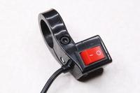 Переключатель (кнопка) Вкл/Выкл с хомутом на руль и вертикально направленной кнопкой