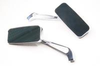 Зеркала заднего вида прямоугольные (хром) металл,универсальные,резьба правая-левая М10-М8
