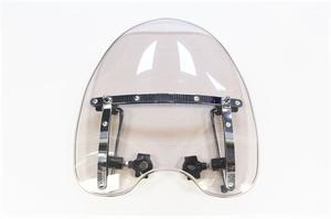 Ветровое стекло для мотоцикла универсальное, тонированное с хромированным крепежом на руль