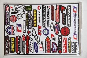 Комплект наклеек  1лист логотипы фирм