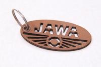 Брелок Jawa коричневый материал кожа (Чехия)