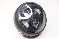Фара в сборе линзованная LED 12V (черная)