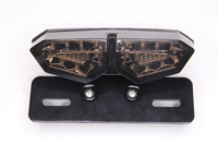 Стоп-сигнал светодиодный универсальный тонированный ромб (со встроеными поворотниками,стоп,габарит и подсветка номера)