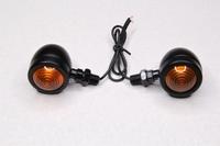 Поворотник ретро-стиль (черные,железо) испускаемый свет желтый Тип№29