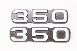 Логотип 350 на бордачки металл для Ява 350 модель 634-638-639-640 (Чехия)