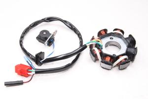 Статор генератора 8 катушек 6+2 (3+1+1 проводов) для 4-х тактных скутеров  (Китай)