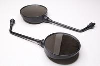 Зеркала заднего вида Ява круглое, черное, универсальное резьба правая М10