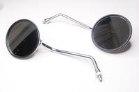Зеркала заднего вида универсальное круглое,хром,железо резьба М10 правая