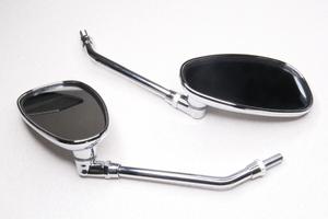 Зеркала заднего вида универсальное овал,хром,пластик резьба М10 правая