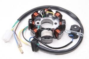 Статор генератора 8 катушек 6+2 (2+1+1 проводов) для 4-х тактных скутеров (Китай)