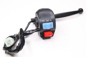 Переключатель руля на скутер (правый с рычагоми и резьбой под зеркала М8,под руль 22мм)139QMB передний барабанный тормоз