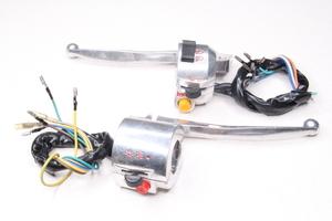 Переключатели руля (правый,левый)(с резьбой под зеркала М8,под руль22мм) с рычагами и проводкой хромированные