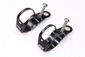 Крепления поворотников на перья вилки диаметром от 30-45мм (черные)