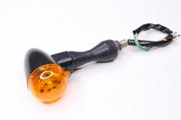 Поворотник яйцо черное (гибкие стойки,пластик) испускаемый свет желтый Тип№4