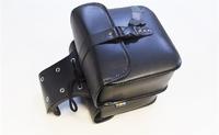 Сумки боковые ретро мото (черные,кожзам,высота 24см,длинна 26см,ширина 10см)